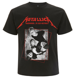 Metallica Unisex Tee: Hardwired Band Concrete