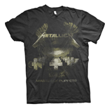 Metallica Unisex Tee: Master of Puppets Distressed
