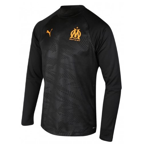 2019-2020 Marseille Training Crew Sweat (Black)