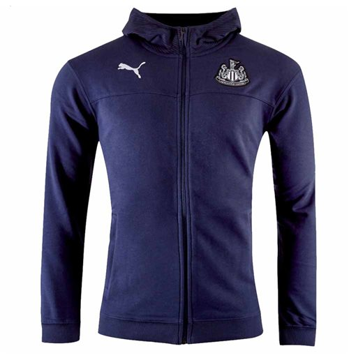 2019-2020 Newcastle Puma Casual Zip Hoodie (Peacot)