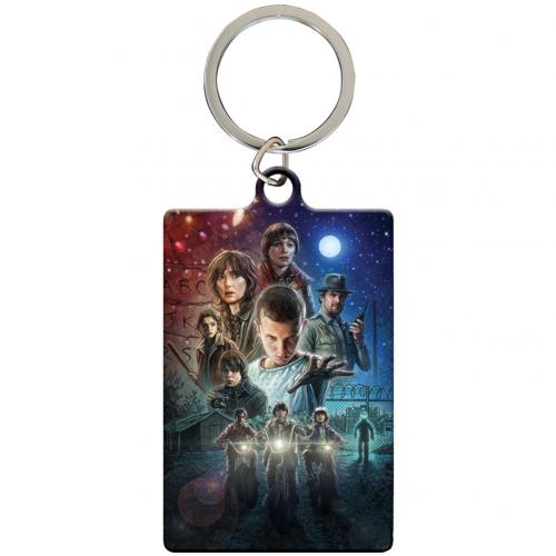 Stranger Things Metal Keyring Logo