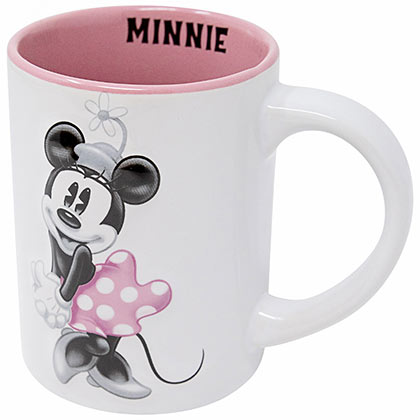 Minnie Mouse Vintage Pink And White 14 Ounce Mug