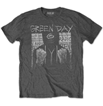 Green Day Unisex Tee: Ski Mask