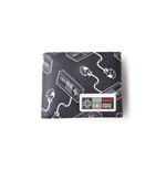 NES - Controller AOP Bifold Wallet With Rubber Patch