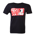 FAMILY GUY Beware of Dog T-Shirt, Male, Extra Large, Black