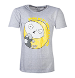 FAMILY GUY Stewie Spank T-Shirt, Male, Large, Grey