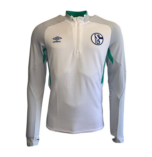 2019-2020 Schalke Umbro Half Zip Training Top (White)