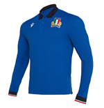 2019-2020 Italy Home LS Cotton Rugby Shirt