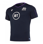 2019-2020 Scotland Macron Rugby Poly Dry Gym T-Shirt (Navy)