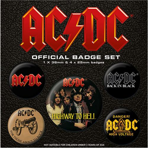 AC/DC Button Badge Set