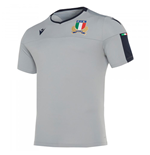 2019-2020 Italy Macron Rugby Players Training Shirt (Grey)