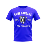 Cove Rangers Established Football T-Shirt (Blue)