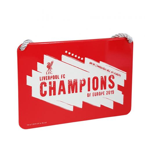 Liverpool F.C. Champions Of Europe Bedroom Sign
