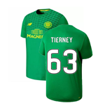 2019-2020 Celtic Pre Game Training Jersey (Green) (Tierney 63)