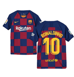 2019-2020 Barcelona Home Nike Shirt (Kids) (RONALDINHO 10)