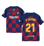 2019-2020 Barcelona Home Nike Shirt (Kids) (F De Jong 21)