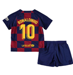 2019-2020 Barcelona Home Nike Little Boys Mini Kit (RONALDINHO 10)