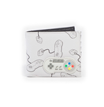 SNES -  Controller AOP Bifold Wallet With Rubber Patch