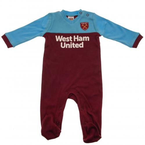 West Ham United F.C. Sleepsuit 6/9 mths ST