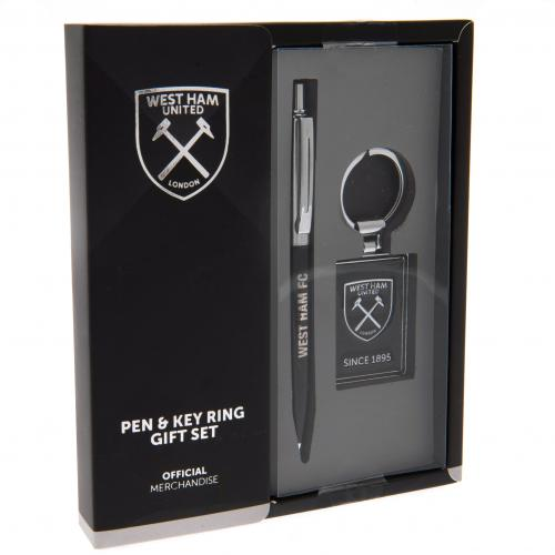 West Ham United F.C. Pen & Keyring Set