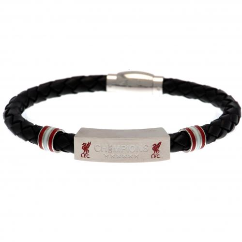 Liverpool F.C. Champions Of Europe Leather Bracelet