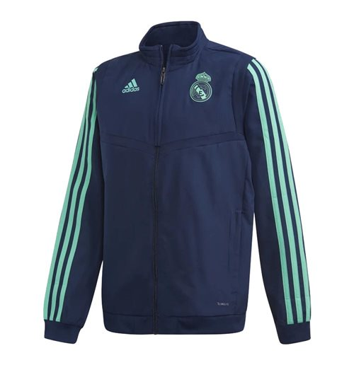 2019-2020 Real Madrid Adidas EU Presentation Jacket (Night Indigo) - Kids