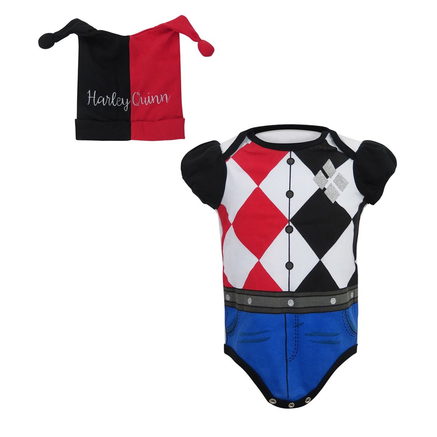 Harley Quinn Snapsuit with Costume Beanie