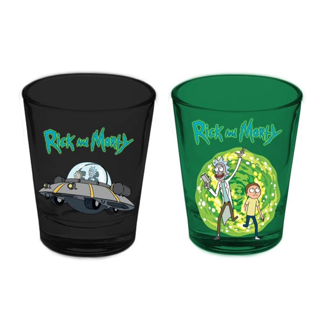 Rick and Morty 2pk Shot Glasses
