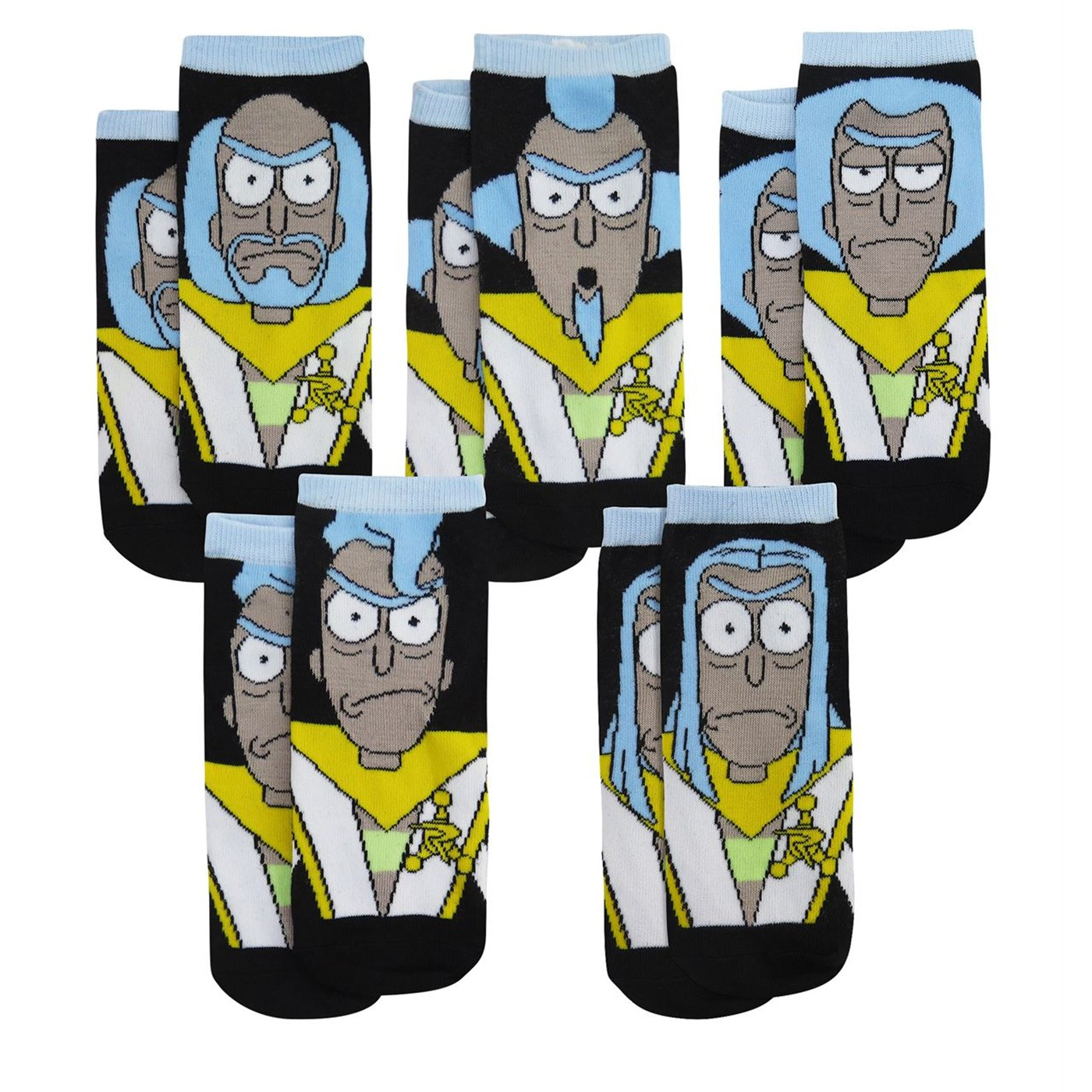 Rick and Morty Council of Ricks Low-Cut Socks 5-Pack