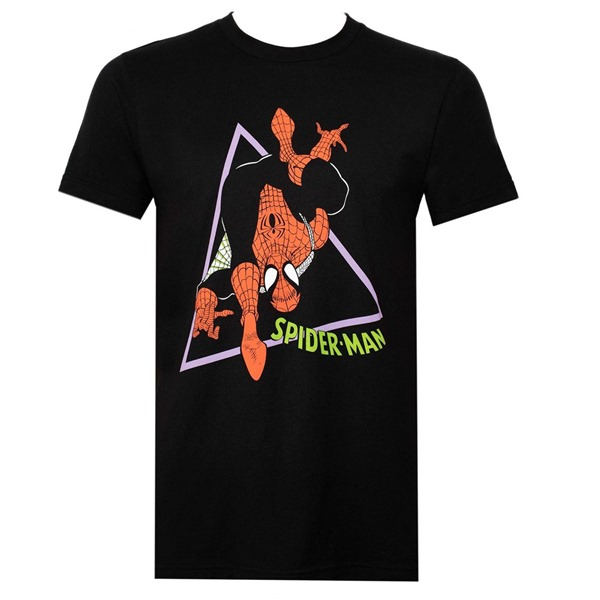 90's Spider-Man Black Men's T-Shirt