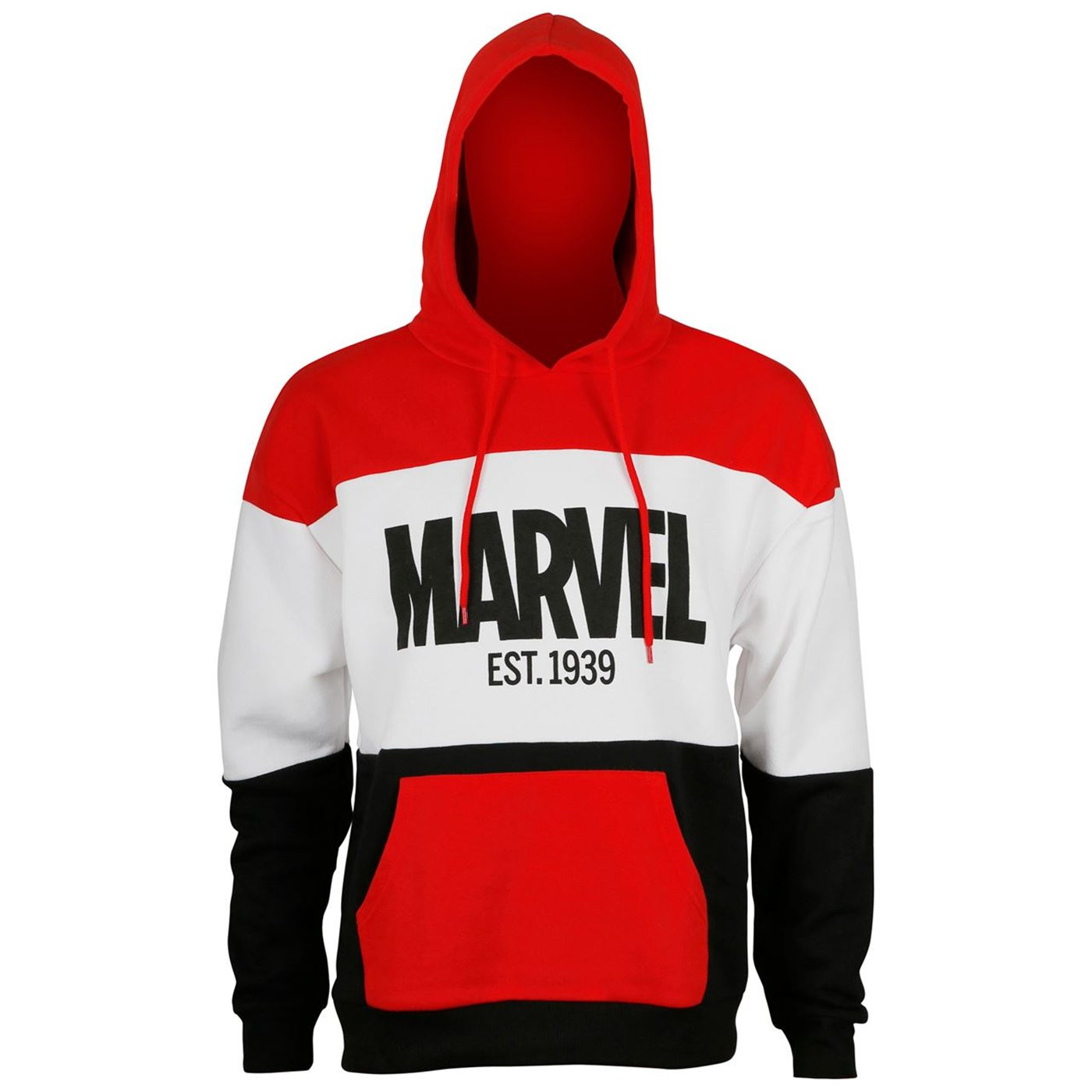 Marvel Est.1939 Red White  and  Black Men's Hoodie