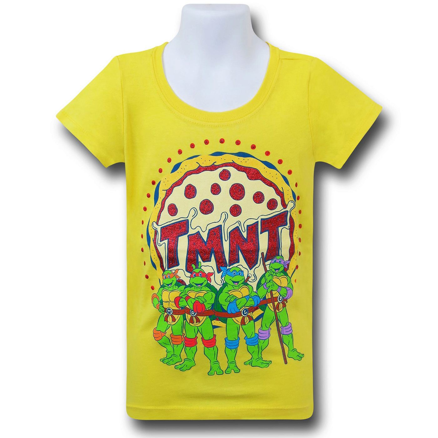 TMNT Group Girls Yellow T-Shirt
