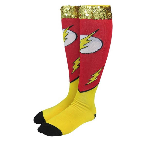 Flash Costume Women's Knee High Socks