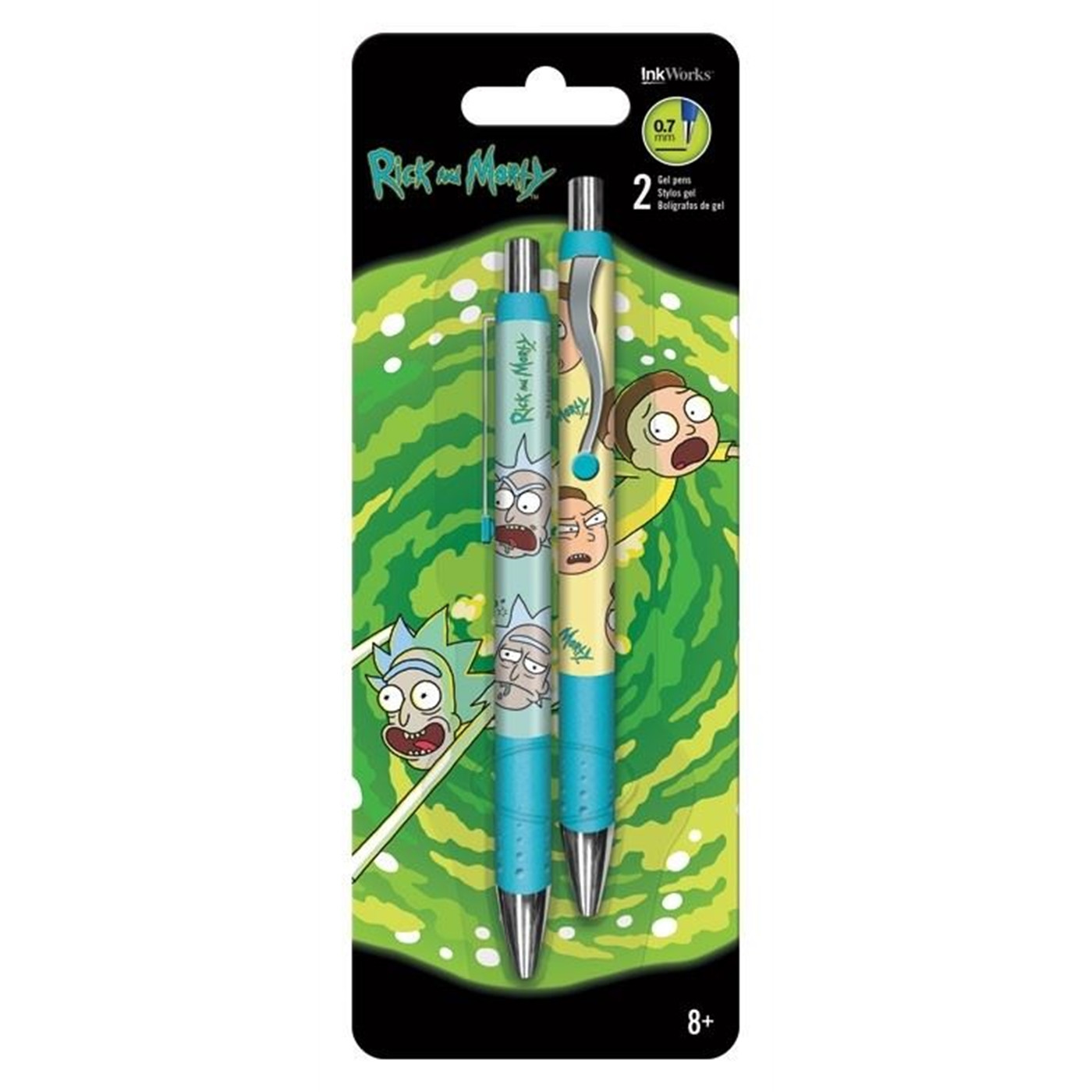 Rick and Morty Gel Pens - 2pk