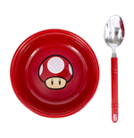 Super Mario Breakfast Set Bowl with spoon Power-Up Mushroom