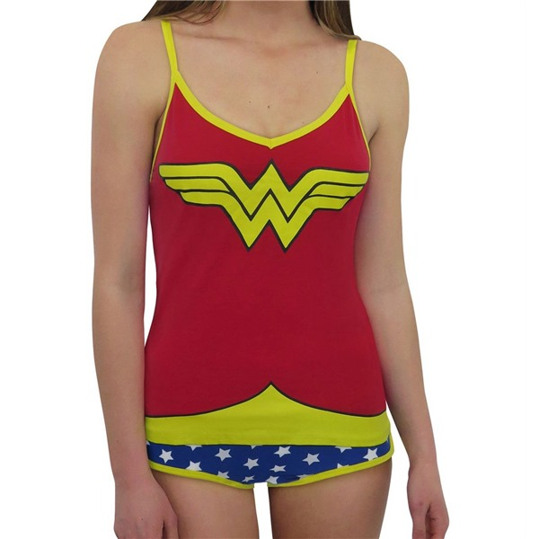 Wonder Woman Cami  and  Panty Lingerie Set