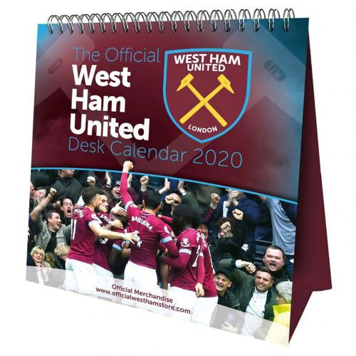 West Ham United F.C. Desktop Calendar 2020