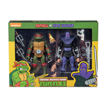 Tmnt Cartoon Raphael Vs Foot Solider 2pk Action Figure
