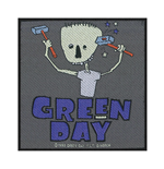 Green Day Patch Hammer Face