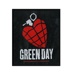 Green Day Patch Heart Grenade