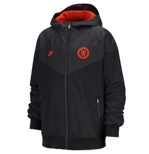 2019-2020 Chelsea Nike Windrunner Jacket (Black) - Kids