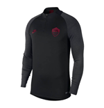 2019-2020 AS Roma Nike Training Drill Top (Black)