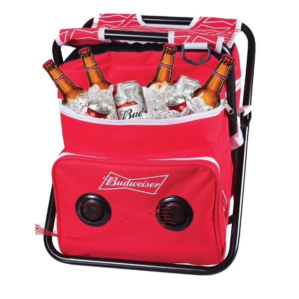 Budweiser Folding Chair Cooler Speaker Combo