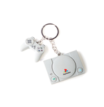 Playstation - Console & Controller 3D Rubber Keychain