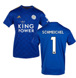 2019-2020 Leicester City Home Football Shirt (SCHMEICHEL 1)