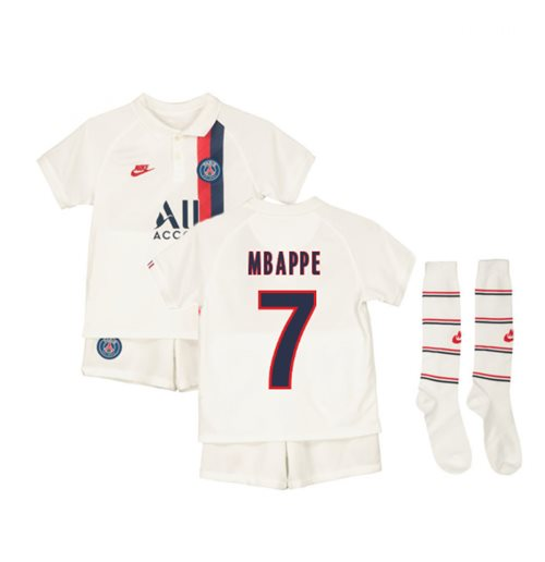 2019-2020 PSG Third Nike Little Boys Mini Kit (MBAPPE 7)