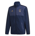 2019-2020 Real Madrid Adidas Lightweight Fleece Jacket (Navy)