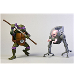 Teenage Mutant Ninja Turtles Action Figure 2-Pack Donatello vs Krang in Bubble Walker 18 cm