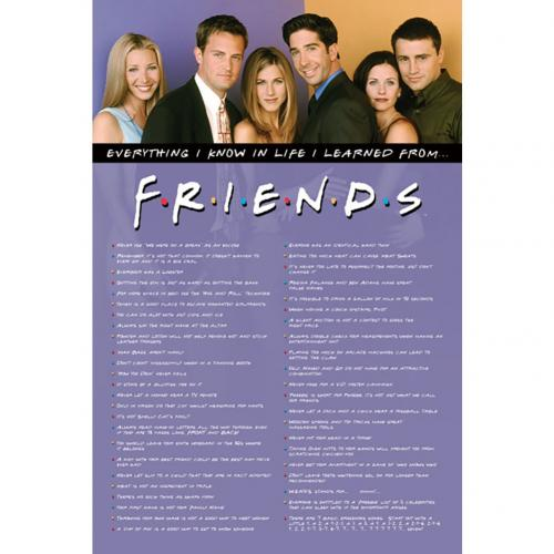 Friends Poster Everything I know 109