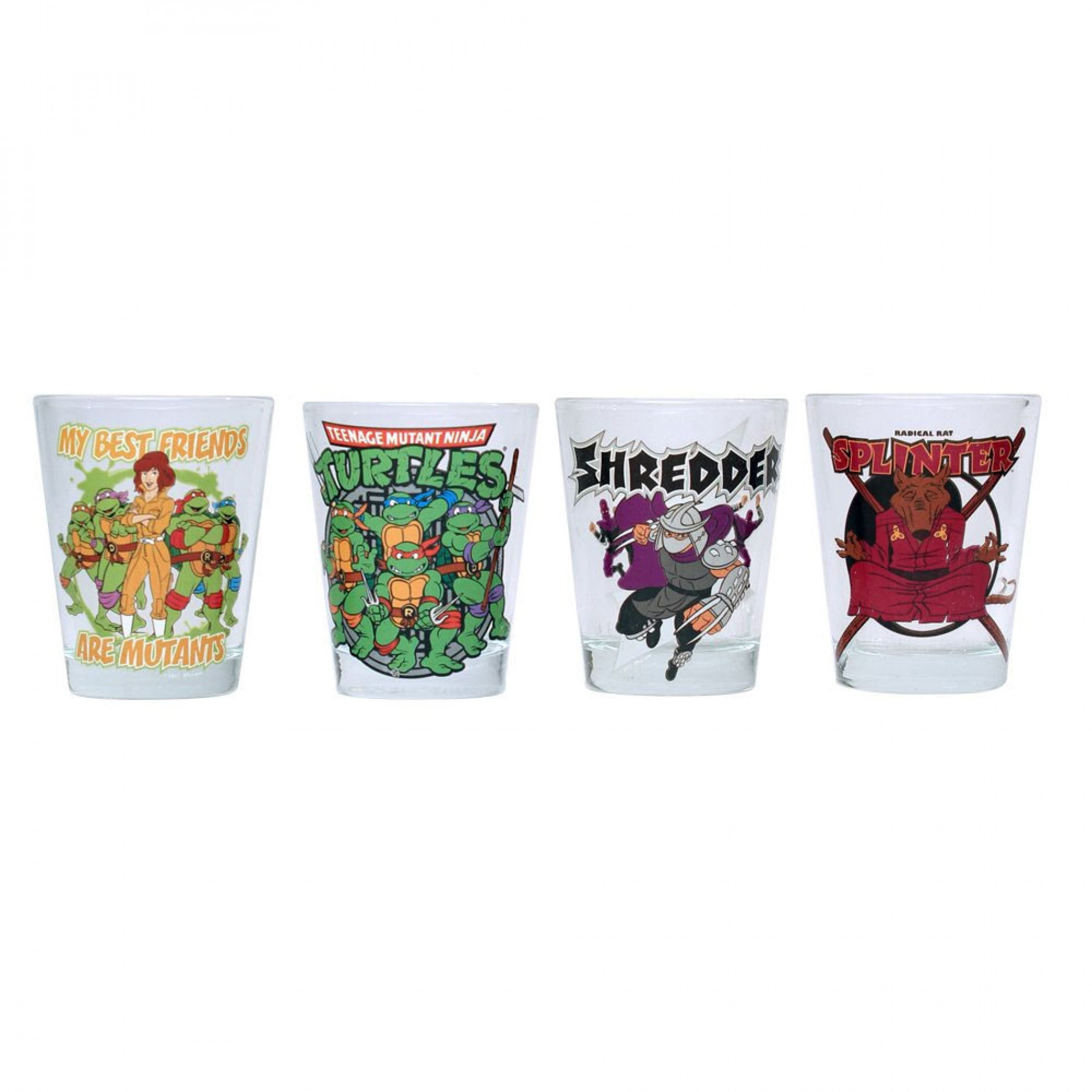 Teenage Mutant Ninja Turtles 4-Pack Shot Glass Set